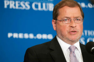 Anti-tax activist Grover Norquist speaks at a National Press Club Luncheon, September 4, 2014.